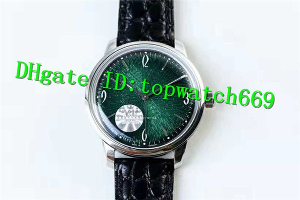 YL Luxury Watch VINTAGE 1-39-52-03-02-04 Watch Cal.39-52 Automatic Movement emerald Dial Stainless Steel Case Leather Strap Men Watch