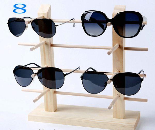 Yeni Varış TONVIC Sunglass 3D Cam Gözlük Için Ahşap Ekran Standı BILEZIK KOLYE TAKı Ekran Standı Tutucu Raf Kolay Montaj