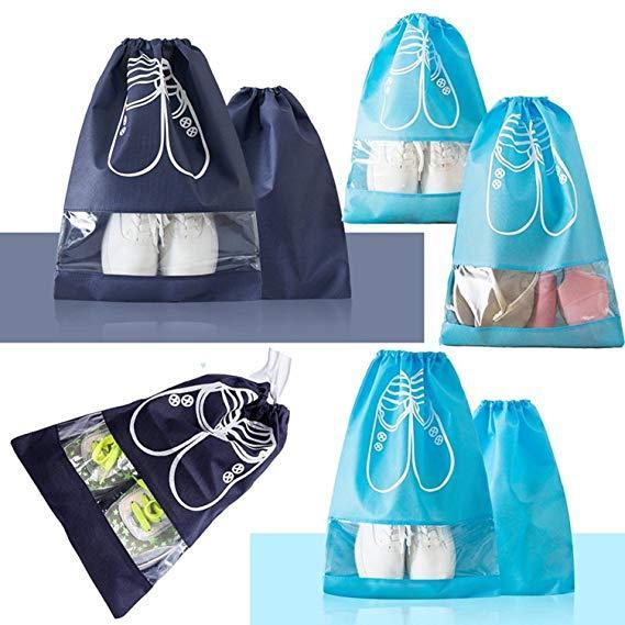 Étanche Chaussures Sac Pochette De Rangement Sac De Voyage Sac Portable Fourre-Tout Cordon Sac D'organisateur Couverture avec Fenêtre Visible