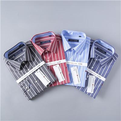 Nuevo 2019 T Brand Camisas casuales para hombres TOM001 EE. UU. Diseñador de algodón de manga larga Camisa de solapa de hombre Camisa de vestir de moda de verano