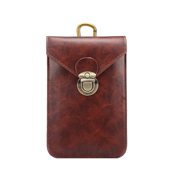 6.5' Leather Cell Mobile Phone Pouch Wallet Hook Loop Belt Bag Case for Samsung Galaxy Note 9 8 for iPhone XR XS 6 7 8 9 Plus