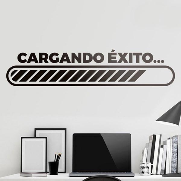 Etiqueta de la pared cita de motivación en español