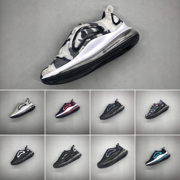 Nike air max 720 Niños Niño y niña Azul Rojo Negro Gris Deportes 72O Zapatos de alta calidad Bebé Niños Diseñadores de moda hombres mujeres Zapatillas de deporte Zapatos de bolos