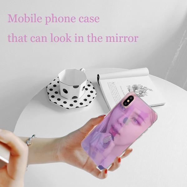 Fantasia iphone transparente espelho iphoneXS max mobile phone case para iphone XR / 8 plus capa protetora
