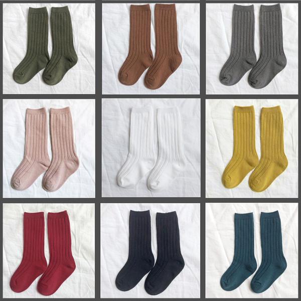 Kinder Lose Socken Feste Babyschlauch Socken Harajuku Jungen Mädchen Kinder Baumwolle Vintage Retro Lustige Strumpfwaren Sokken Nette Farbe