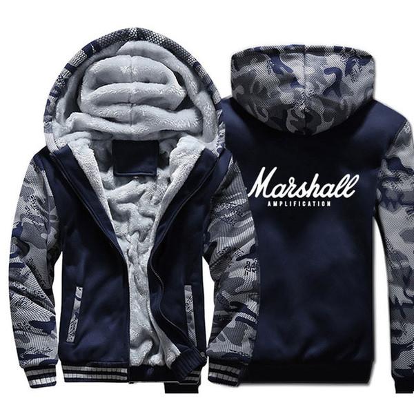Dopshipping Jacket Jacket Homens Punk Rock Moletom Kpop Casaco de Inverno de Espessura de Lã Quente Zip up Camuflagem Com Capuz tamanho EUA