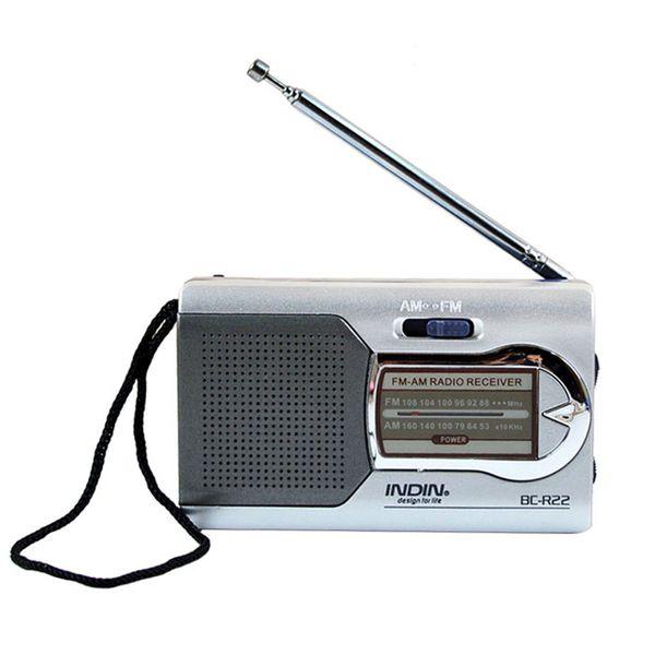 Universal Portable Pocket Radio, 1 Pcs Low Power Consumption Radio with LED Light, High-performance Best Reception Radio