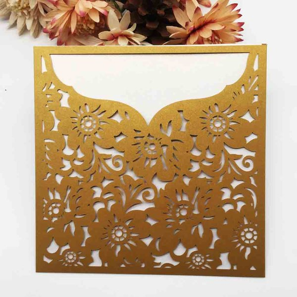 Exquisite Design Traditional Wedding Invitation Card Engagements Business Festival Blessing Using Invitation Cards Hollow Laser Cut