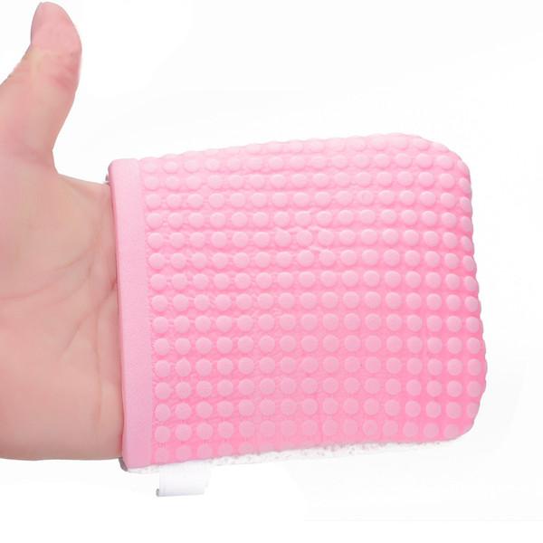 1 Stück Gesicht Waschen Make-Up Entferner Antibakterielle Handschuhe Wiederverwendbare Perle Zellstoff Schönheit Reinigung Naturschwamm Gesichtsreiniger Werkzeug