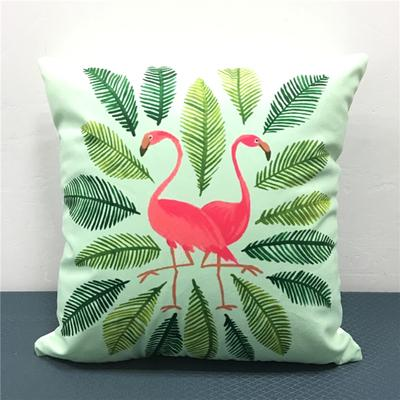 Magnificent Tropical Palm Leaf Flower Soft Cushion Cover Flamingo Bird Pillow Cover 40X40Cm For Baby Bedroom Sofa Chair Decoration Deck Furniture Cushions Outdoor Pabps2019 Chair Design Images Pabps2019Com