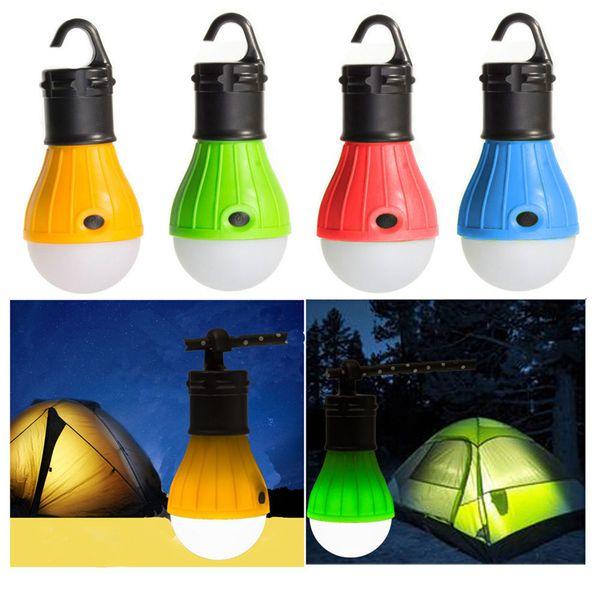 Mini lanterna portatile tenda a LED 3LED Lampada di emergenza Lampada a sospensione impermeabile con gancio torcia per accessori da campeggio ZZA517