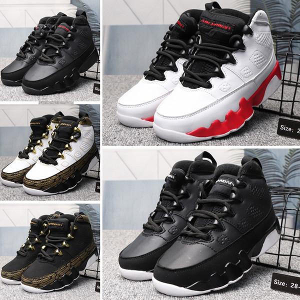 2019 Şık Erkek Kız Çocuk Ayakkabı Tasarımcısı 9 9 s Yeni Moda Atletik Basketbol Ayakkabıları Sneakers Bebek Çocuk Erkek Kız Kutusu Olmadan EASY01