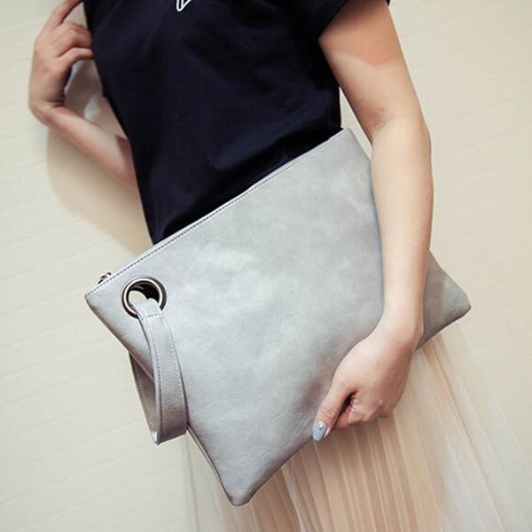 New fashion dinner leather envelope bag high-grade elegant large-capacity women's clutch bag trend mobile phone bag