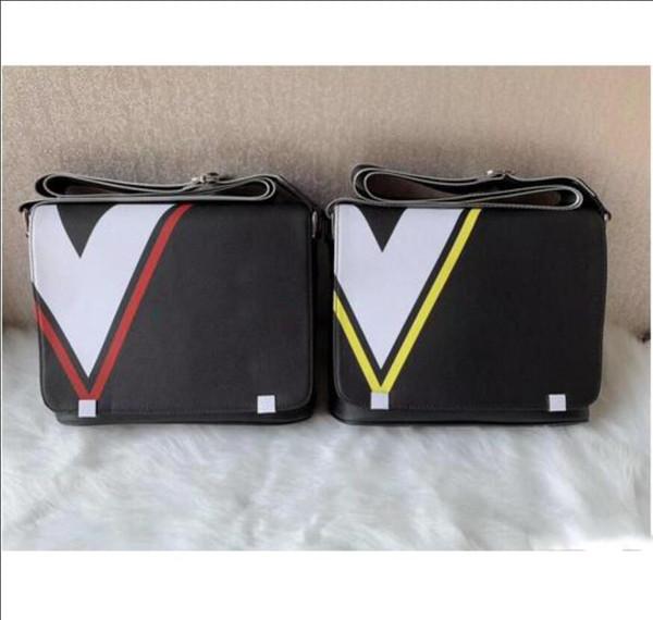 LV N41029 Clássico dos homens quentes bolsa das senhoras bolsa de ombro moda PU de couro dos homens do projeto do ombro diagonal cruz pasta