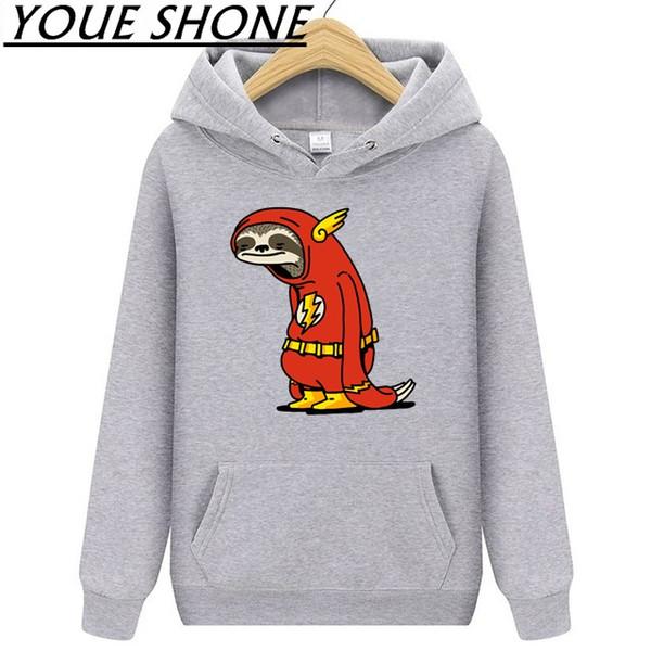 Супер герой смешно Красный Ленивец Флэш-Мужские толстовки толстовка мужчины с капюшоном спортивная одежда пальто открытый туризм ветрозащитный пуловер фитнес одежда