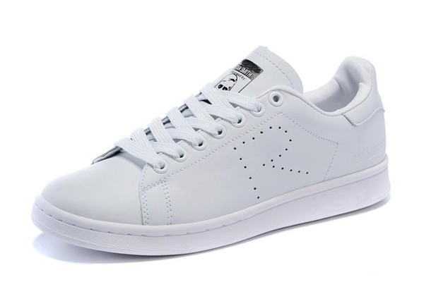 2019 Raf Simons Stan Smith Spring Copper Blanc Rose Noir Super Star Fashion Casual Man marque cuir femme chaussures homme Flats Sneakers C16