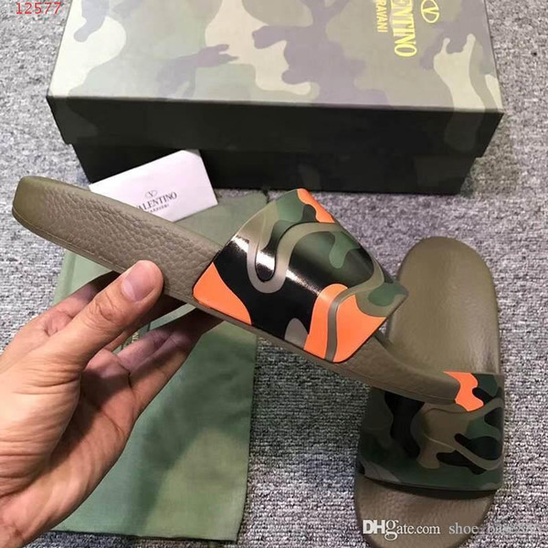 fashion Military camouflage patterned sandals summer sliver classic style The crocodile grain slippers latest design for rivets size 39-45