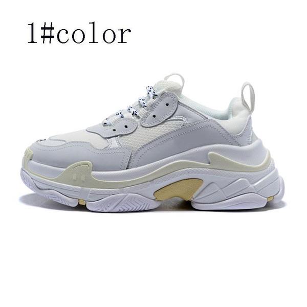 2019 New Designer Shoes Fashion Paris 17FW Triple S Sneakers top quality Casual Dad Mens Women Black white Sports Size 36-45 V09