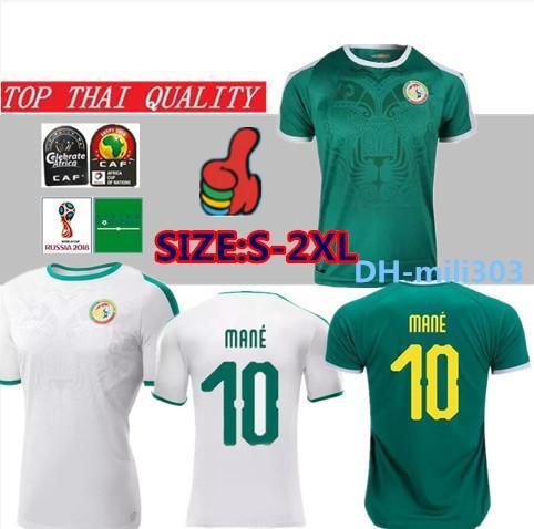 2019 20 Afrikameisterschaft Senegal Fußball Jersey Top Thai Qualität 2018 Weltmeisterschaft Senegal National MANE Fußballmannschaft Fußball Trikot Fußball Trikot