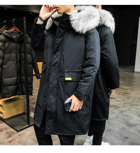 Black Long Parka Men