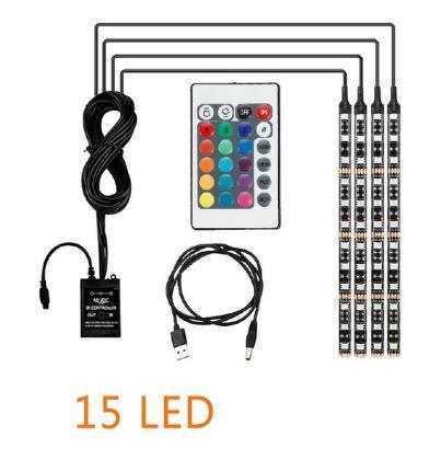 USB / 4PCS / 15LED / 60LED