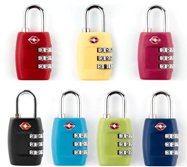 top popular New TSA 3 Digit Code Combination Lock Resettable Customs locks Travel locks Luggage Padlock Suitcase High Security SN2559 2021