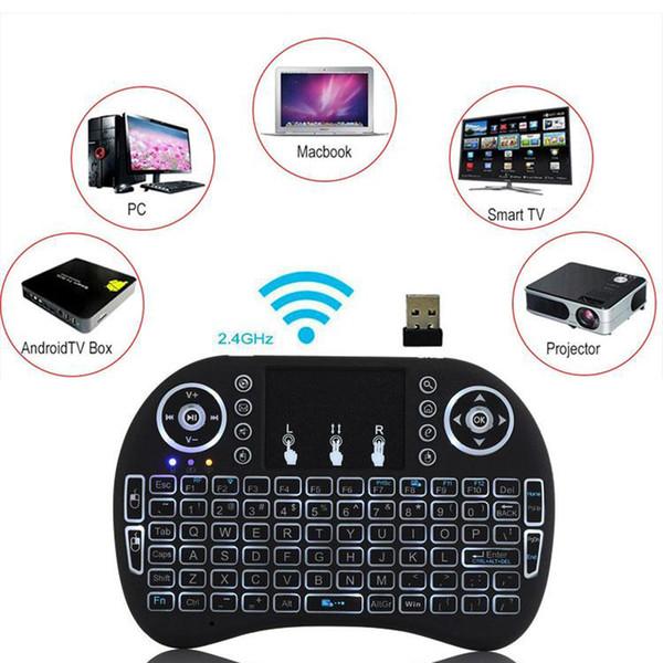 MXQ 프로 X96 TV 박스 새로운 미니 I8 키보드 백라이트 2.4G 무선 플라이 에어 마우스 충전식으로 백라이트 터치 패드 원격 Controlers