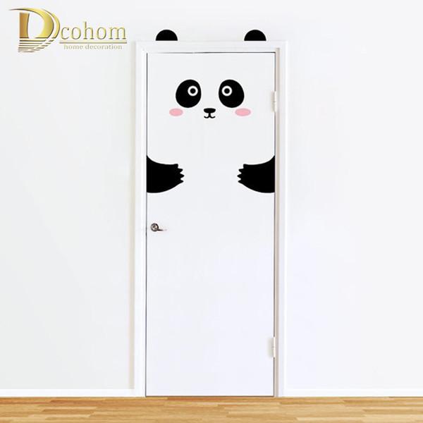 Nordic Style Animali Panda coniglio Wall Stickers 3D per bambini Camere Porta autoadesivo domestico della decorazione Frigorifero rimovibile Art