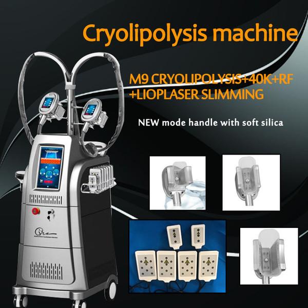 Dispositivo gordo gordo Multifunction do gelo de Cryolipolysis da máquina de congelação com o laser de Ripo Lipo da cavitação