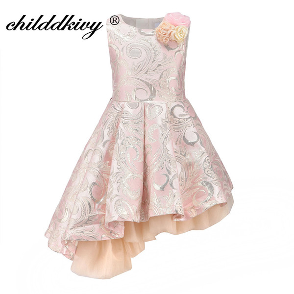 Childdkivy Baby Girl Princess Dress 3-12years Kids Sleeveless Autumn Winter Dresses For Toddler Girl Robe Fille Children Clothes J190520