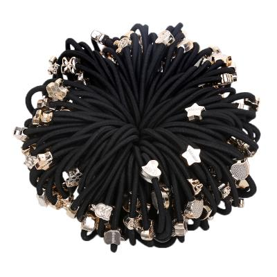 Korean hair-tied leather sheath for adults simple hairband, hairline, hairline, hairline, lovely rubber band flower