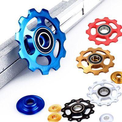 11T dents qualité VTT route vélo dérailleur arrière en alliage d'aluminium Guide Roller 11 pignon de roue accessoire en gros E1