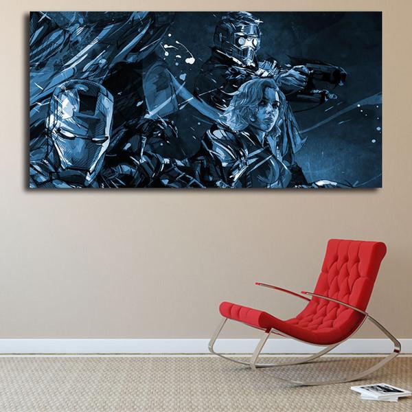 Marvel Avengers Illustration By Yann Dalon Canvas Painting Print Bedroom Home Decor Modern Wall Art Oil Painting Poster Artwork