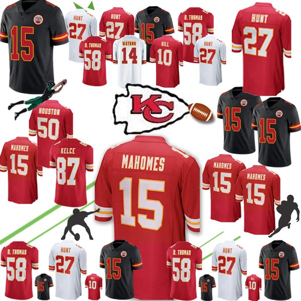 new product fe0a4 1dc00 10 Tyreek Hill 15 Patrick Mahomes Kareem 27 Hunt Kansas Jersey Chiefs 58  Derrick Thomas 50 Justin Houston 72 Fisher Berry UK 2019 From ...