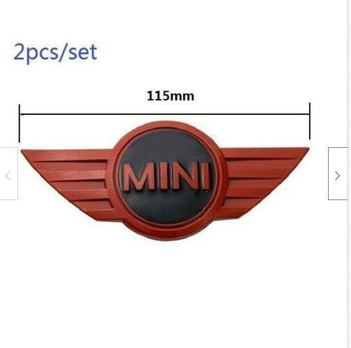 Emblema R50 R52 R57 R58 con logo MINI Cooper CLUBMAN S 2 pezzi 115mm