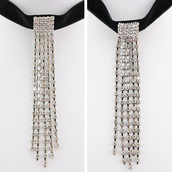 Moda aleación borla choker collar para las mujeres vintage bohemio maxi collar de joyería al por mayor