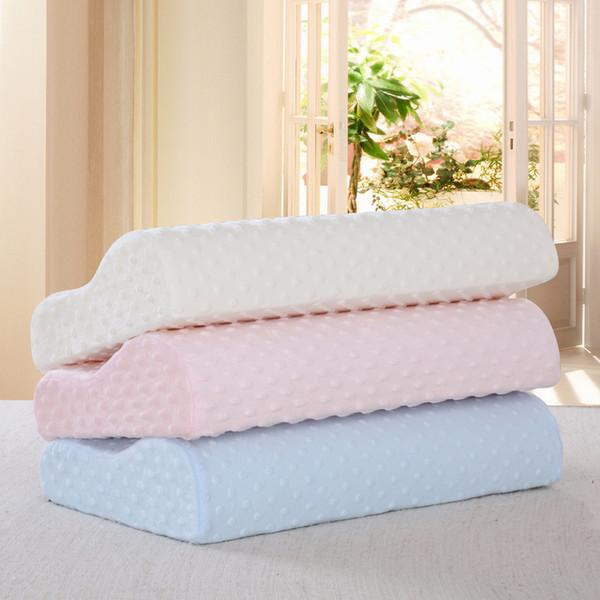 Memory Foam Pillow Solid Pot Cuscini ortopedici Cuscino in lattice Cuscino PW2902 Fibre rimbalzo lento Massaggio morbido Cuneo cervicale