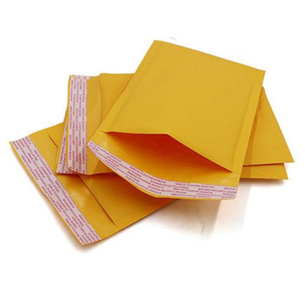 Petit sac à bijoux recouvert d'un film plastique absorbant les chocs Petit sac postal de couleur jaune