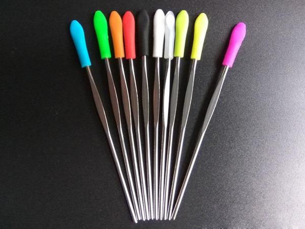 Воск Dabber Tool eGo Evod Mini Dab Инструмент из нержавеющей стали, инструменты для нанесения мазка, титановый инструмент Dabber, сухая трава, испаритель, ручка, ложка, ушная раковина, силиконовые насадки.