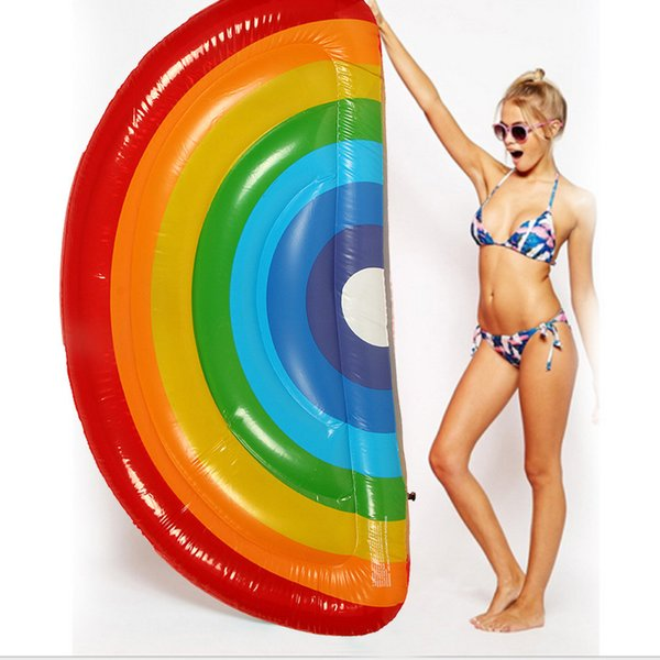 Giant Inflatable Rainbow Pool Float Swimming Raft Swim Ring Party Water Fun juegos inflables paint booth inflatable air track