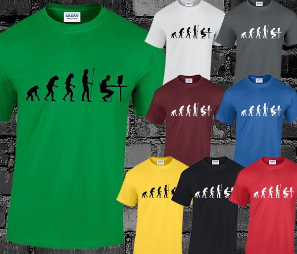 Evolution of PC Gamer Mens T Shirt Top Gaming Computer PS4 XBOX Funny Gift Joke