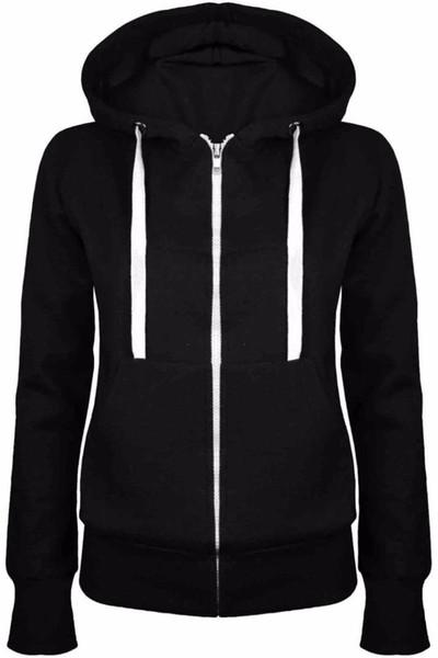 Hoodies Sweatshirt Damen Damen Herren Coat Top NEW 5 Farben Unisex Plain Zip Up Hooded Zipper