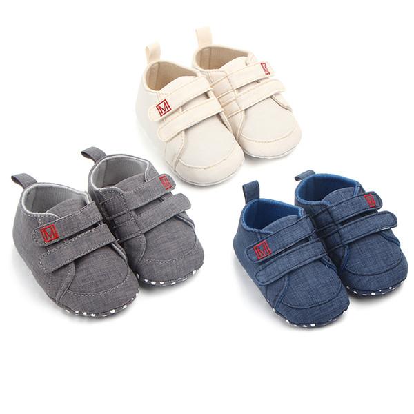 Calzado Niños recién nacidos Calzado para bebés Primavera otoño Suela blanda para niños pequeños Calzado para bebés Zapatos de tela 0-18 meses