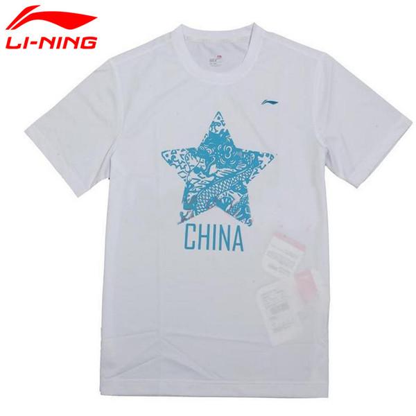 Li-Ning Мужчины Городская Спортивная Футболка Quick Dry Comfort С Коротким Рукавом Досуг LiNing Футболка Спортивная Футболка AHSG085