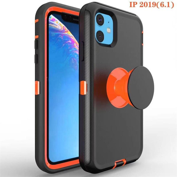 New For Iphone 11 case with Holder 3M Glue Expandable Grip Mobile Phone Stand 360 Degree Finger Holder Flexible