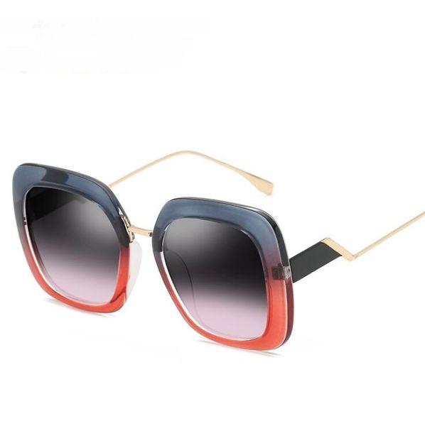 New fashion sunglasses Europe and the United States cross-border personality sunglasses women trend big box sunglasses best sale