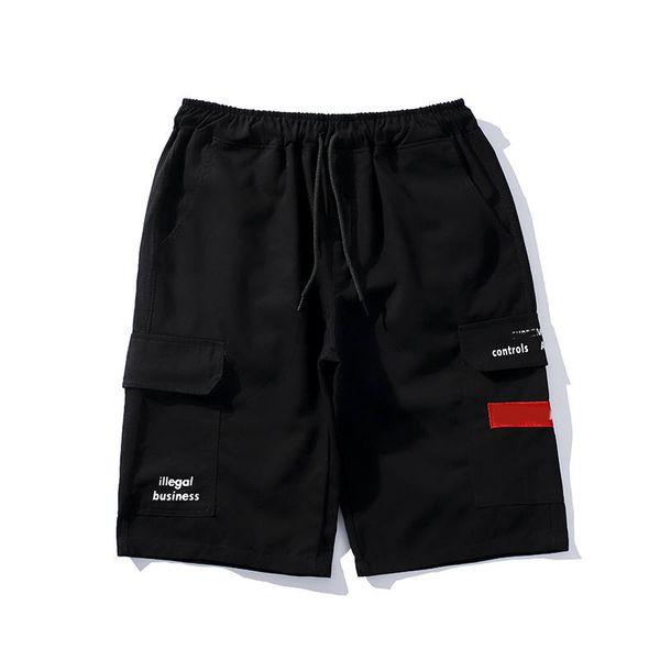 Мужские короткие роскошные мужские дизайнерские шорты бренда красная коробка с логотипом печати с принтом короткие брюки хлопок уличные спортивные брюки мода уютные дикие трусики