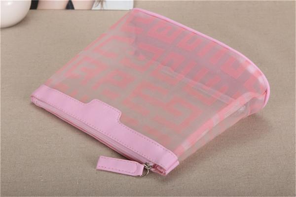 Luxus Kosmetiktasche Sommer Spezielle Net Garn Kosmetiktasche Transparente Handtasche Reißverschluss Große Kapazität Meistverkauften Luxus Klassischen Stil Hot
