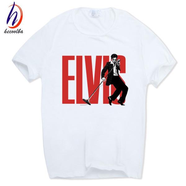 Homens Mulheres Elvis Presley Rei do Rock T-shirt de Manga Curta O-pescoço Harajuku Moda Tshirt Streetwear Ganhos HCP473