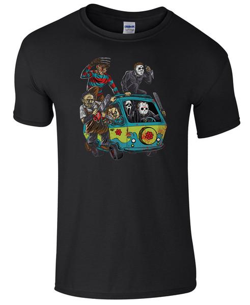 Mystery Machine Halloween T-Shirt Men's Cheap Fancy Dress Costume Funny free shipping Unisex Casual Tshirt